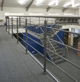 Ss316固体棒の手すりとの最上質の屋内階段柵デザイン
