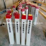 Pila de la señal de tráfico de camino de FRP GRP SMC/poste de la etiqueta de plástico