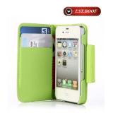 La caisse de téléphone de couverture de cuir de Fiip pour l'iPhone peut être Customiz