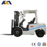 Empilhadeira telescópica hidráulica manual 4ton Diesel com pneu de fixação sólida