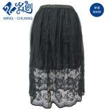 Negro de moda de la falda corta de ropa de verano Perspectiva de malla para Mujeres