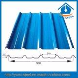 Folhas de metal de aço galvanizadas corrugadas cor da parede/telhadura