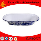 Sunboat Ustensiles de cuisine de la plaque de beurre d'émail plat