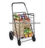 Faltbarer Metallsupermarkt-Einkaufswagen mit Rädern