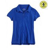 Camicia a buon mercato 100% di polo del ragazzo dell'uniforme scolastico del cotone