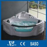 1550X1550X650mm Corner Whirlpool Bathtub