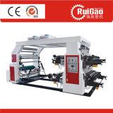 Impressora Flexographic de alta velocidade do saco de compra da película plástica de quatro cores