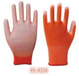 13G Poliéster Nylon PU guante recubierto de