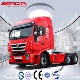 Caminhão do trator do táxi do Short do telhado liso de Saic-Iveco Hongyan 40t 340HP 6X4