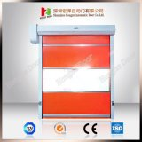 内部の速い高速圧延シャッター反静的なプラスチックPVCドア(HzHSD011)