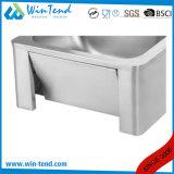 Эксплуатируемый коленом тазик раковины кухни соединения воды Faucet с тазиком 18/8 и Backsplash нержавеющей стали