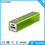 Bank van de Macht 2600mAh USB van de Stijl van de manier de Groene Draagbare