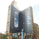 Напольные обручи здания для рекламировать знамя сетки PVC использования большое