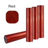 Bright Color Glitter Red Easy Weeding PU Flex pour vêtements