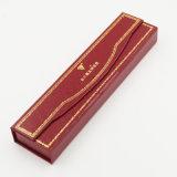 Коробка Leatherette штемпелевать золота высокого качества бумажная для браслета (J96-DX)