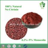 100%の自然で赤いイースト米のエキスMonacolin 5%のより低い血のコレステロール