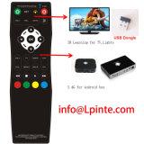 Wirelss RF 2.4G teledirigido para el rectángulo STB androide de la TV