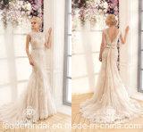"""Vestidos de casamento longos Z2063 da faixa """"sexy"""" do laço dos vestidos nupciais da sereia"""