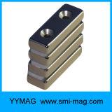 De Gediplomeerde Magneten van uitstekende kwaliteit van het Blok van het Neodymium N48sh