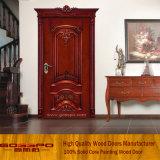 Projeto de madeira clássico da porta da entrada principal (GSP2-071)