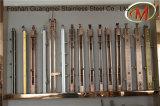 Pilares del pasamano del acero inoxidable y de madera