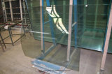 安全明確な緩和された曲がったエレベーターガラス