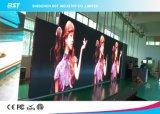 Panneau de mur visuel d'écran polychrome d'intérieur de l'Afficheur LED P4