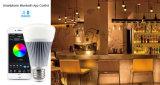 bulbo do diodo emissor de luz de 8W Blubtooth RGB+CCT