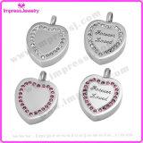 De Tegenhangers van het Hart van de Liefde van de Herinnering van de as voor altijd met Roze Kristallen Ijd9638