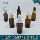 15ml Amber Orifice Reducer Sealing Plastic Cap Botella De Cristal De Aceite Esencial
