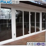 Portes coulissantes en aluminium / aluminium et fenêtres avec couleur grain noir / blanc / bronze / bois
