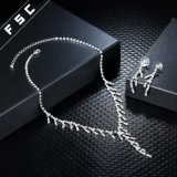 La moda de joyería de diseño simple con Collar y aretes de cristal