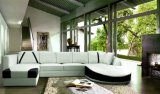 Sofà sezionale della mobilia del cuoio dell'angolo di figura moderna del sofà U per mobilia domestica