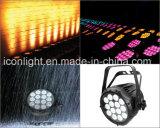 Novo design fino 14PCS RGB tricolor 3NO1 PAR de LED de luz para iluminação de exterior