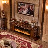 旧式な彫刻TVの立場LEDのホテルの家具の電気暖炉(325S)