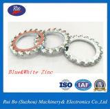 Rondelles d'acier dentelées par External galvanisé de rondelle à ressort de rondelle de freinage de DIN6798A