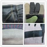 Ddsafety 2017 guanti pieni di sicurezza di inverno del grano della mucca del rivestimento della parte posteriore di cotone della banda