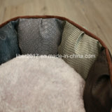 Ledernes rundes Haustier-Produkt-Bett-Hundekatze-Bettwäsche-Sofa-Luxuxbett