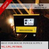 Gerador de gás 7KW com gasolina bicombustível, Ng, GPL