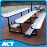 Precio de fábrica de 1 fila gradas de aluminio con respaldo bajo, asiento del blanqueador portátil