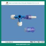 Medizinischer Wegwerfmethoden-Absperrhahn des plastik3