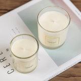 Natürliches duftendes KristallStright Sojabohnenöl-Wachs-Glasglas-Kerze