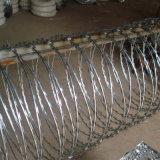 熱い浸された電流を通されたアコーディオン式の有刺鉄線