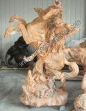 Escultura estatua de piedra tallada de mármol tallado para la decoración de jardín (SY-X1139)