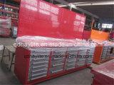 仕事台のペグ・ボードが付いている鋼鉄ツールキャビネットの道具箱