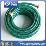 Boyau flexible vert de l'eau de jardin de PVC avec l'excellente qualité