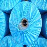 Ткань брезента PE высокого качества голубая пластичная
