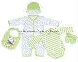 Roupa ajustada ajustada do Roupa-Infante do bebê 5PCS do presente recém-nascido do bebê