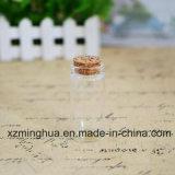 Frasco de vidro de Borosilicate do comprimido dos doces com cortiça