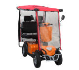 Vier Wheels Doble Seat Mobility Scooter mit Rain Cover